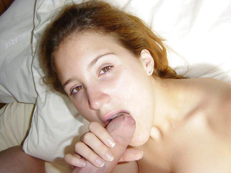 Die braunhaarige Fose liebt den Pimmel in ihrem Mund fühlen. - Bild 5