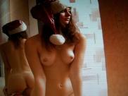 Die Dirne geschenkt sich für Nikolaus.